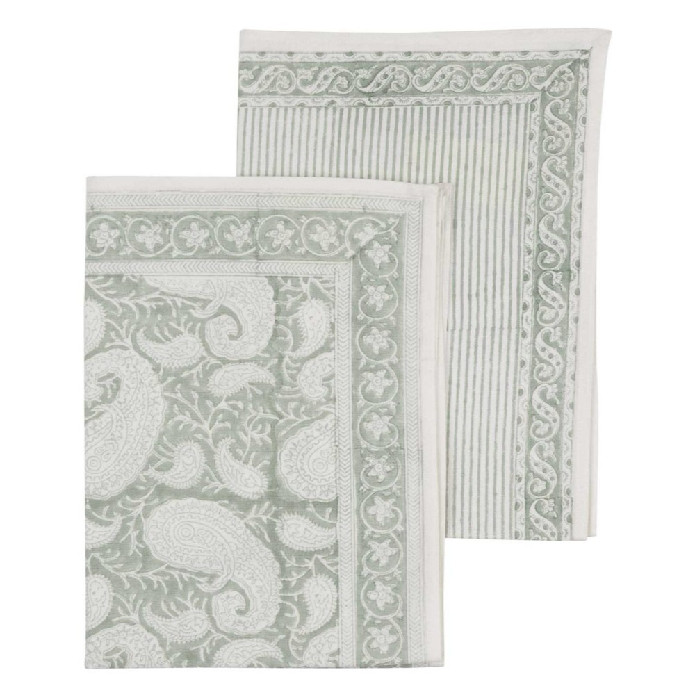 7de94b29 Handduk big paisley sea foam - Chamois - Mix Interiör