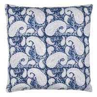 cushion cover big paisley blue-Chamois