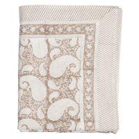 Duk big paisley soft beige – Chamois