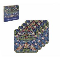 William Morris strawberry thief blue Underlägg 4-p  – Desina
