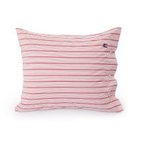 Red striped poplin pillowcase, 50*60 – Lexington