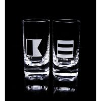 Flaggspel snapsglas 2-pack – Marie Stendahl