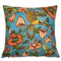 Kuddfodral parrot blue 50*50 cm – Nadja Wedin