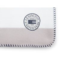 Block striped fleece throw, white/grey 130*170 – Lexington