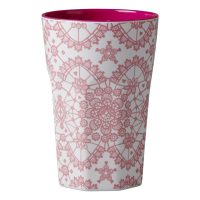 Lattemugg Lace rosa – Rice