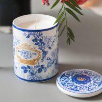 Portus Cale, gold & blue candle – Castelbel