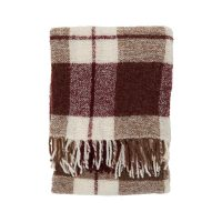 Bouclé Throw Red Multi – Lexington