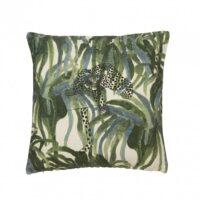 Kuddfodral Leopard grön 50*50 cm – Fondaco