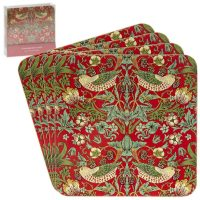William Morris Strawberry thieves red underlägg 4-p – Desina