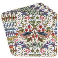 William Morris  strawberry thief white underlägg 4-p – Desina