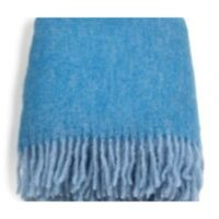Mohairpläd lightblue-royal melange 130*170 cm – Stackelbergs