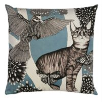 Kuddfodral katten turkos 50*50 cm – Nadja Wedin