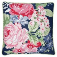 Kuddfodral, Rose dark blue piece printed, 50×50 – GreenGate