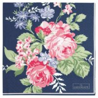Napkin Rose, dark blue – GreenGate
