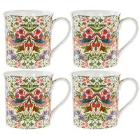 William Morris Strawberry thief mugg 4-pack – Desina