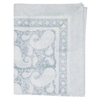 Big Paisley Duk  150*230 Cotton Cashmere blue