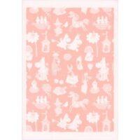 Moominvalley-15 Pläd 72*105cm rosa