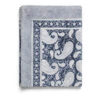 Big Paisley Duk 150×230 Linen Navy Blue