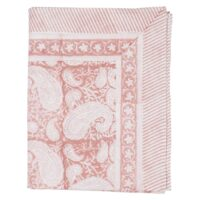 Big Paisley Duk  150×230 Cotton Fuchsia Rose