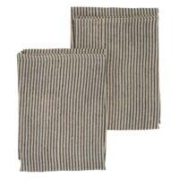 Chamois-Striped Handduk 50*70 cm Linen Blue