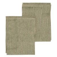 Chamois-Striped Handduk 50*70 cm Linen Green