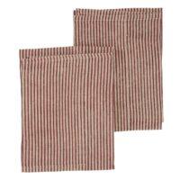 Chamois – Striped Handduk 50×70 cm Linen Spicy Red