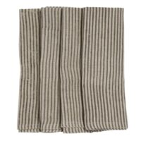 Chamois- Napkin Stripe 2-pack Linen Grey