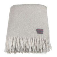 Mohairpläd, London Fog & Blanc Melange 130*170