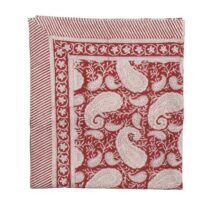 Big Paisley Duk 170×270 Cotton Red