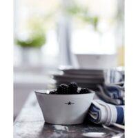 Lexington – Stoneware Bowl White/Dark Blue