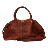 Moshi-Weekend Bag London Brown Leather