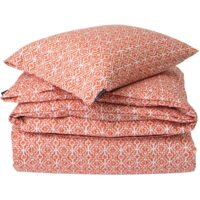 Apricot Printed Sateen Bed Set