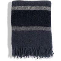 Lexington – Blue Striped Wool Boucle Throw