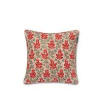 Lexington – Printed Cotton Velvet Pillow Cover Red Multi