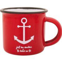 Mugg Anchor 8*8 cm röd
