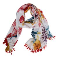 The Moshi-Parero/scarf Anna 180*100 cm Red mix