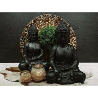Buddha Svart 44 cm