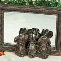 Elefanter I Spegel 16×21 cm