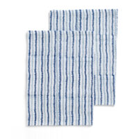 Chamois – Electric Double Stripe Kökshandduk  50×70 cm Navy Blue