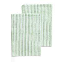 Chamois – Electric Double Stripe Kökshandduk 50×70 cm Green