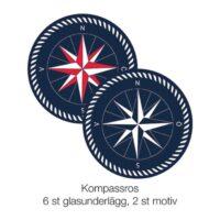 Grytunderlägg Kompassros 2-p ø19 cm