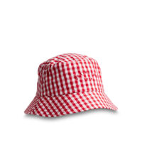 Bridgehampton Checked Bucket Hat Red/White