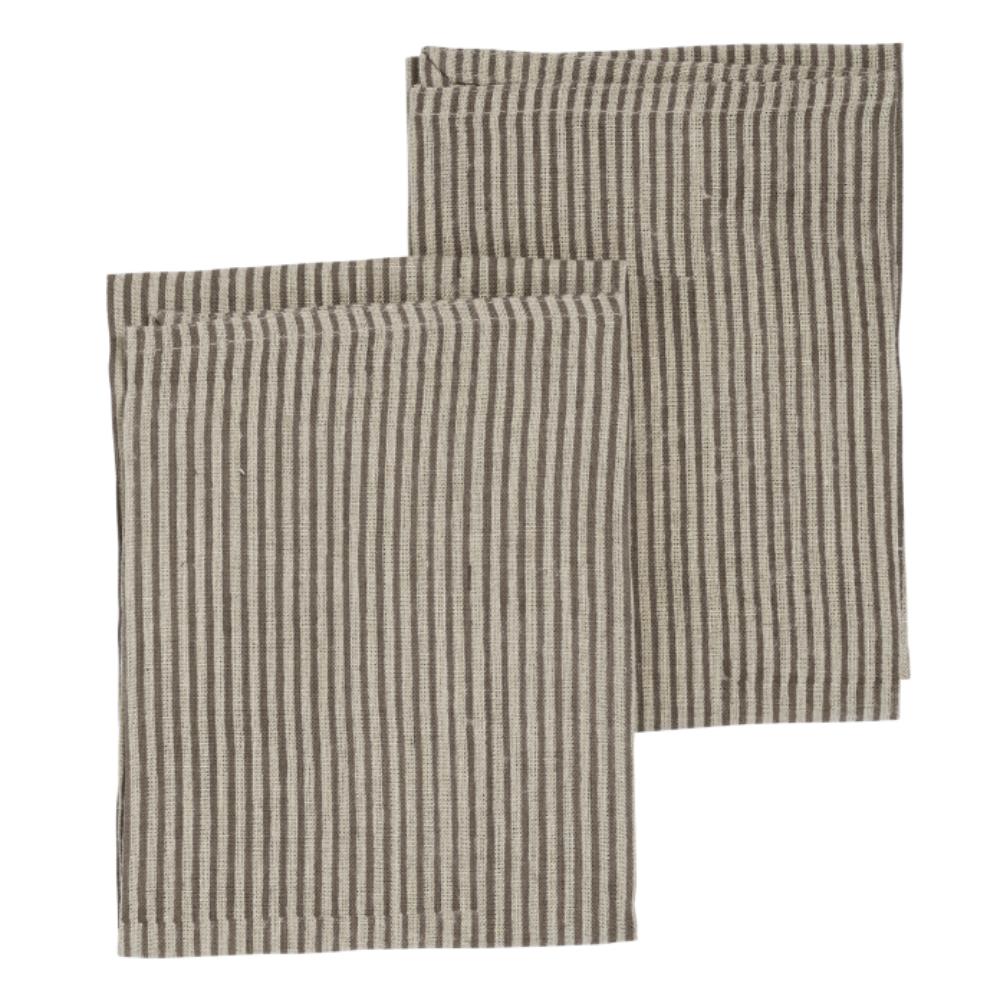 Chamois – Stripe Kökshandduk 50×70 cm Linen Grey