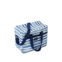 Lexington – Striped Cotton Canvas Cooler Bag Blue/White