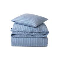 Lexington – Striped Organic Cotton Sateen Bed Set Blue