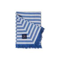 Lexington – Striped Recycled Cotton Throw 130×170 cm Blue/White