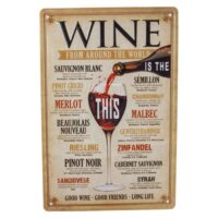 "Metallskylt ""Wine"" 20×30 cm"