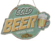 """Metallskylt """"Cold Beer"""" 32*23 cm"""