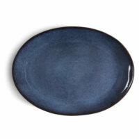 Bitz – Ovalt Fat 45×34 cm Svart/Mörkblå