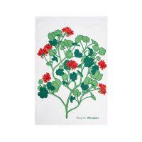 Almedahls – Pelargonia Kökshandduk 47*70 cm Röd